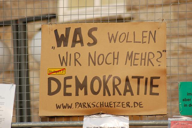 Was wollen wir noch mehr? Demokratie